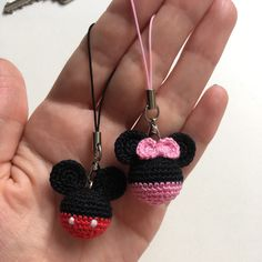 CrochetGiftByMary shared a new photo on Etsy The most popular trinkets Mickey and Minnie mouse. Will be an amazing gift for the connoisseur of disney. Cute Crochet, Crochet Crafts, Crochet Toys, Crochet Projects, Crochet Mickey Mouse, Crochet Disney, Minnie Mouse, Gifts For Girls, Gifts For Friends