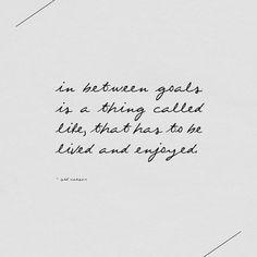 In Between Goals...