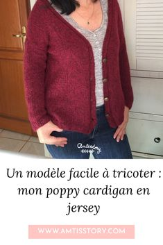 Dame, Poppies, Knit Crochet, Couture, Lifestyle, Knitting, Sweaters, Cardigans, Pulls