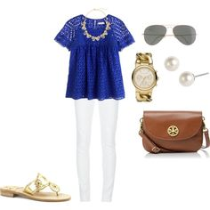 """""""Eyelet"""" by southern-prep on Polyvore"""