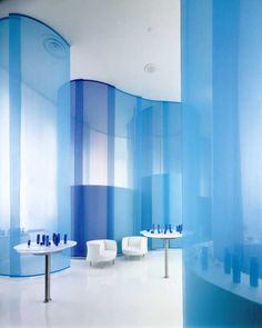 Curved fabric walls architecture research office spa - Google Search