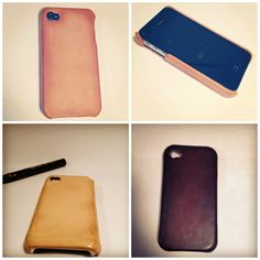 """Kickstarter: -oldflowers- """"made by hands"""" leather iphone saddles. Beautiful."""