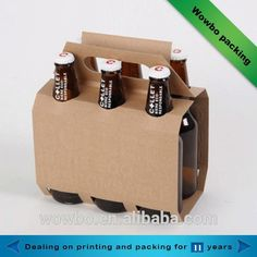 holy crap this beer pack is dope. Bottle Box, Bottle Carrier, Bottle Holders, Beer Bottle, Coffee Packaging, Bottle Packaging, Six Pack Cerveza, Kombucha, Design Package