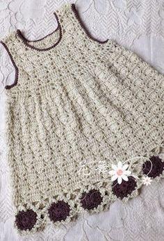 Tecendo Artes em Crochet: Vestido Infantil Lindo!