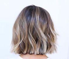 Brown blonde balayage! #hair #balayage #brunette #blonde #shorthair