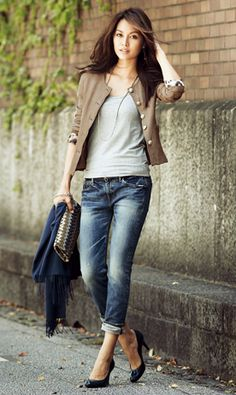 Japanese fashion ~lisa Denim Fashion, Girl Fashion, Fashion Outfits, Womens Fashion, Casual Work Outfits, Trendy Outfits, Tokyo Street Style, Pamela, Japan Fashion