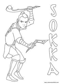 Sokka coloring page