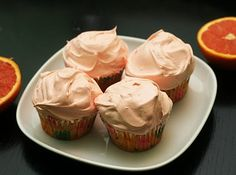 Cara Cara orange & vanilla cupcakes-made with Greek yogurt