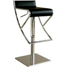 Baxton Studio Adjustable Black Leather Bar stool - transitional - bar stools and counter stools - by Baxton Studio Cheap Bar Stools, Black Bar Stools, Leather Bar Stools, Swivel Bar Stools, Counter Stools, Home Bar Furniture, Find Furniture, Bonded Leather, Black Leather