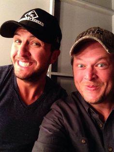 xoxostephanie11:  Luke & Blake are hosting the ACMawards tonight!  I was there!