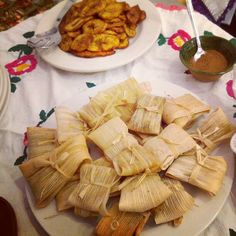 Tamales and plantains  Photo by jacquiechamberlain • Instagram