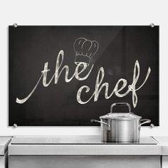 Kitchen splashback - keuken achterwand - the chef