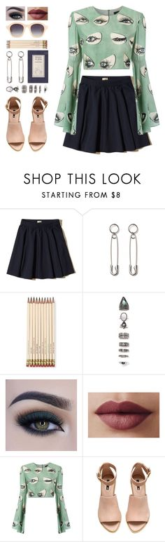 """""""Josefine"""" by brie-the-pixie ❤ liked on Polyvore featuring Hollister Co., Kate Spade, Nasty Gal, Too Faced Cosmetics, ADRIANA DEGREAS, H&M and 3.1 Phillip Lim"""