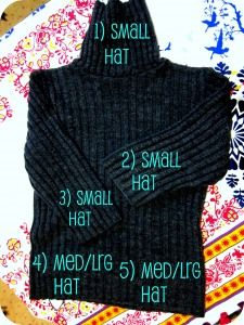 Another tutorial for creating an upcycled hat from a sweater. Cool beans!