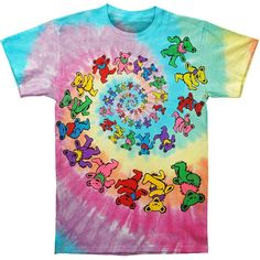 Grateful Dead Dancing Bears Tie Dye T-Shirt by BlueMountainDyesLLC