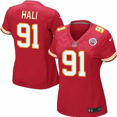 Tamba Hali Jersey Kansas City Chiefs #91 Womens Red Elite Jersey Nike NFL Jersey Sale
