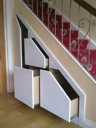 Cupboards under stairs