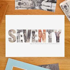 Personalised 60th 70th 80th Photograph Print by imagINephotowords