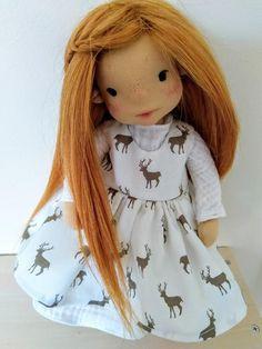 Ayla 11 inches Waldorf inspired doll natural fiber art doll | Etsy