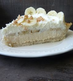 Banana Cream Pie (White Chocolate and Toffee Banana Cream Pie, that is.)  Glutten free and egg free.  And more yummy glutten free recipes.