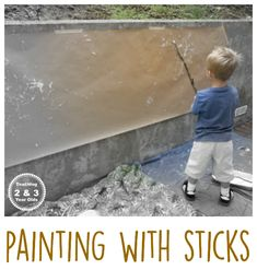 Preschool Art with Sticks - Teaching 2 and 3 Year Olds
