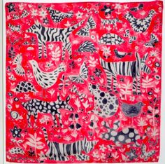... each featuring little swatches of original Collier Campbell fabric, and hand-painted and printed scarves and gift-wrap, all available from her website.
