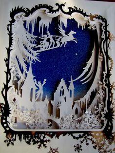 """paper cut silhouette from jan pienkowski's """"the nutcracker"""""""