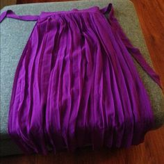 Long sheer purple skirt Long sheer purple skirt. Has a left side slip. Has a short skirt lining underneath. Excellent Condition. ❌Trade/PP ✅Bundle Skirts