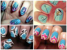 https://www.facebook.com/leovandesign   #nailpolish #manicure #pedicure #polish #nail #design #springnaildesign #spring #blue