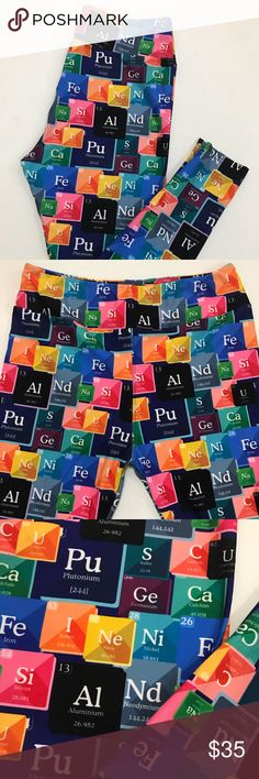 143c092db2196 Science Periodic tables leggings - OS / TC / TC2 *FIRM PRICE* Soft brushed
