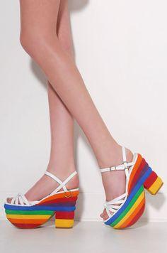 Jeffrey Campbell Avalon Shoe.  Hello 1976!