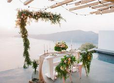 Peter and Veronika film Photographers in Santorini Floral Wedding, Wedding Flowers, Santorini Wedding, Destination Wedding Photographer, Floral Design, Fine Art, Table Decorations, Photographers, Weddings