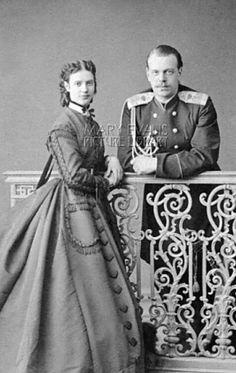 Tsarin Maria Feodorovna and Tsar Alexandre III of Russia. Parents of Nicholas II - 1883