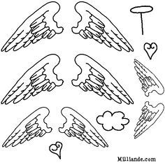 angel wings template