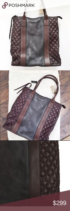 """All saints quilted leather tote bag purse Distressed tri-color leather tote from All saints London based designer brand. Easily fits a 15"""" MacBook Pro for a computer bag for school or work. Extra room for books or binder. It could also serve as a super chic diaper bag. 👌🏻👏🏻 All Saints Bags Totes"""