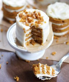 Mini Pumpkin Layer Cakes | Ten delicious recipes for bite-sized desserts.