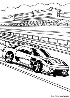Coloringsco Hot Wheels Colouring Pages