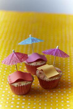 Beach Towel Cupcakes