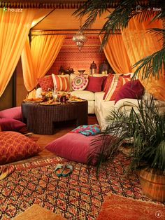 Happy space. Bohemian design.