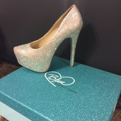GORGEOUS Betsey Johnson Heels! These are BLUE by Betsey Johnson heels. Something BLUE  Size 7. They are used and show some wear on inside, bottoms (that you don't see) and I only found one stone missing. It also comes with beautiful blue box to store them in and extra rhinestones. The bottoms are of course BLUE  Betsey Johnson Shoes Heels