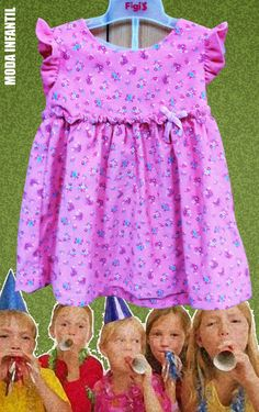 Vamos ala fiesta con el vestidito floral...Moda Infantil | Figi's