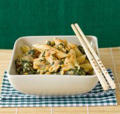 Penne mit Spinat-Erdnuss-Sauce - Vegane Rezepte: Hauptspeisen - 16 - [ESSEN & TRINKEN]