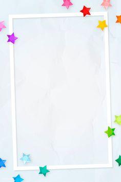 Colorful stars frame design vector | premium image by rawpixel.com / NingZk V. #vector #vectoart #digitalpainting #digitalartist #garphicdesign #sketch #digitaldrawing #doodle #illustrator #digitalillustration #modernart #frame Cute Wallpaper Backgrounds, Mobile Wallpaper, Cute Wallpapers, Iphone Wallpaper, Printable Frames, Printable Labels, Powerpoint Background Design, Text Frame, Birthday Frames