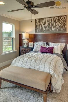 We love this unique accent wall that doubles as a headboard in our Las Palmas model! New Home Construction, Interior Decorating, Interior Design, Home Trends, New Home Designs, Home Builders, Interior Inspiration, Contemporary Design, Design Trends
