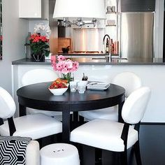 small dining table in small kitchen open area