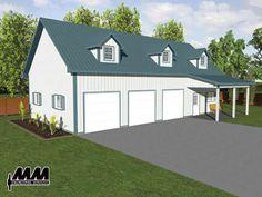 24x28 2 car garage with loft garage plans for farmhouses for Menards apartment garage plans