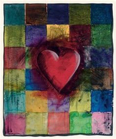 Jim Dine ~ The Handkerchief, 1993 (woodcut and etching, hand-colored)