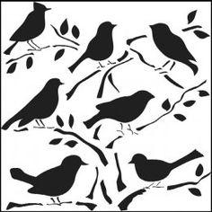 šablony - výzdoba oken Paper Art, Paper Crafts, Bird Template, Bird Stencil, Damask Stencil, Free Stencils, Stencil Designs, Amazon Art, Silhouettes