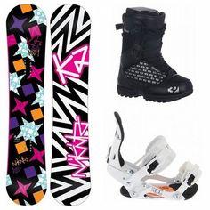 K2 Vavavoom Rocker 152 Womens Snowboard + Ride LXH Bindings + 32 Lashed Boots  **The ultimate women's jib board!**