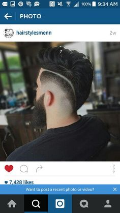 Mens faded mohawk